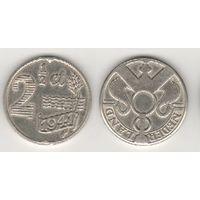Нидерланды km171 2 1/2 цента 1941 год (нов.тип)Zn (f17)-бел цвет*+
