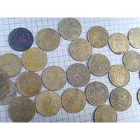 Монеты СССР до реформы. 3 копейки.25шт.