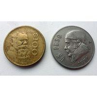 100 песо  и 1 песо Мексика  (из коллекции)