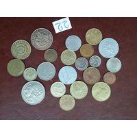 22 монеты мира