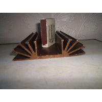Радиатор алюминевый фигурный темнёный
