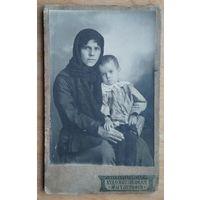 Фото женщины с ребенком. Пермь. До 1917 г. 8х13 см.