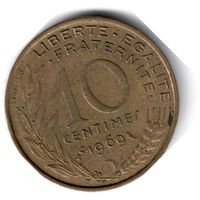 Франция. 10 сантимов. 1969 г.