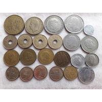 Испания. Набор из 23 монет. (1944 - 1999)год.