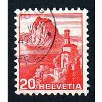 20: Швейцария, почтовая марка, 1936 год, номинал 20с, SG#375A
