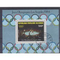 [1795] Конго 1984. Спорт.Олимпиада.Бокс. Гашеный блок.