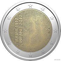 2 евро 2017 Финляндия 100-летие независимости Финляндии UNC из ролла