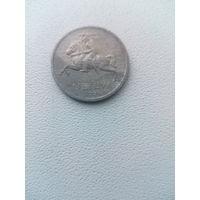 1 цент 1991 года Литва