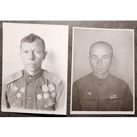 Заверенные фото - лот из 2 шт. Подполковник - знак - Халхин-Гол. Офицер запаса - знак Хасан.
