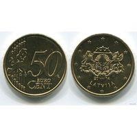 Латвия. 50 евроцентов (2014, UNC)