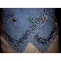 Жилетка джинсовая 46-48