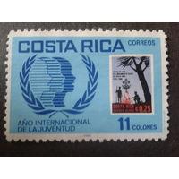 Коста-Рика 1985 межд. год молодежи Mi-2,0 евро