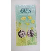 Буклет для монеты - Дуброўка скальная - Лапчатка скальная
