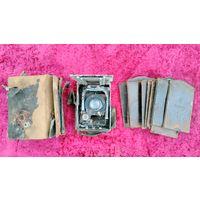 Фотоаппарат СССР, старинный, с кассетами Ленинград