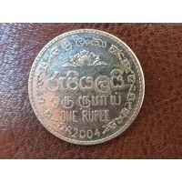1 рупия 2004 Шри-Ланка ( магнит )