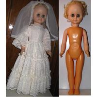Кукла Винтаж 60см НЕВЕСТА СССРкак НОВАЯ кон 60-х В родной одежде и обуви