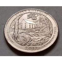 25 центов, квотер США, водные пути Озарк (штат Миссури), P