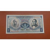 Банкнота 1 песо Колумбия 1973