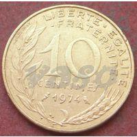 6427:  10 сантимов 1974 Франция KM# 929