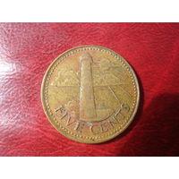 5 центов 1979 год Барбадос