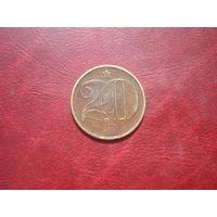 20 геллеров 1972 год Чехословакия