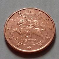 1 евроцент, Литва 2015 г., AU