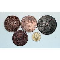 Лот монет (5 шт) Швеция