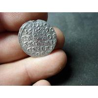 Трояк 3 гроша Рига Сигизмунд III 1590 г. Речь Посполита МД Рига возможен разумный торг