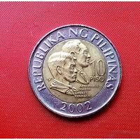 85-20 Филиппины, 10 писо 2002 г.