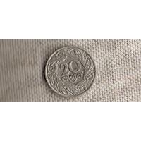 Польша 20 грошей 1923/никель(Zo)