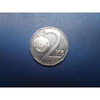 2 кроны 1993 чехия