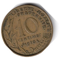 Франция. 10 сантимов. 1970 г.