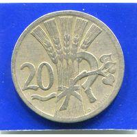 Чехословакия 20 геллеров 1926