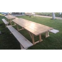 Аренда столов со скамейками