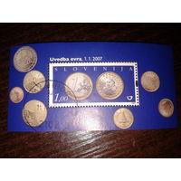 Словения 2007г. Монеты блок