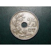Бельгия 25 сантимов 1929