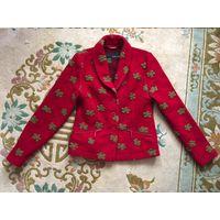 Пиджак жакет кардиган 46 шерсть вирджинская
