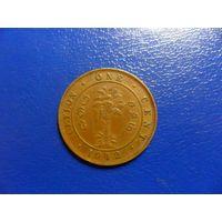 Цейлон 1 цент 1942 г.