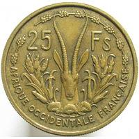 Фр. Западная Африка 25 франков 1956