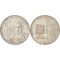 Португалия 100 эскудо 1987 Амадео де Соуза Кардозу UNC