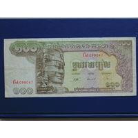 Камбоджа. 100 риелей (образца 1972  UNC).