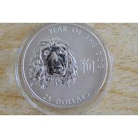 Соломоновы острова 25 долларов 2006     Год собаки.