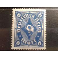 Германия 1922 Стандарт, почтовый рожок 6м