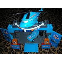 Cars/Тачки: Dinoco стоянка вертолета Ротор Турбовинт + голубой Маккуин