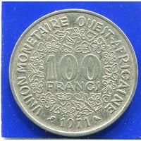 Западная Африка 100 франков 1971