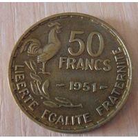 50 франков Франция 1951 г.в. KM# 918.1, 50 FRANCS, из коллекции