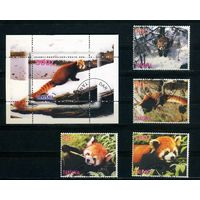 Танзания 1998г. пушные звери, 4м. 1 блок