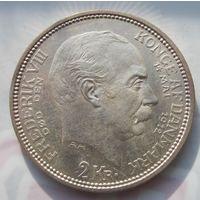 Дания, 2 кроны, 1912, серебро