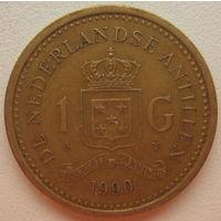 Нидерландские Антильские острова (Антилы) 1 гульден 1990 г. (gl)