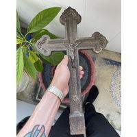 Крест Большой с Распятием Чугунный вес 3.5кг (НЕ С КЛАДБИЩА)